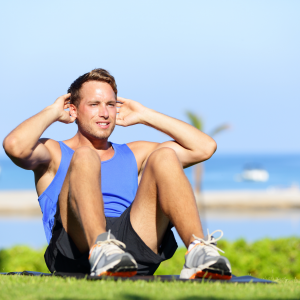 man exercise for eye health and overall health